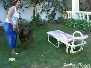 Man and Dog outdoor porn